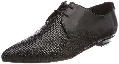 Marc Opolo Damen Lace Up Schoen 80114423401106 Slipper Schwarz (zwart)