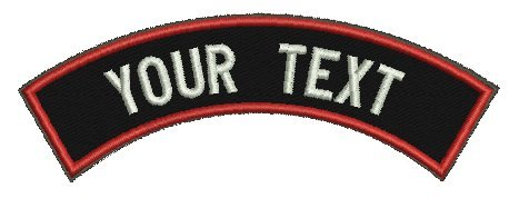 Custom Shoulder Tab with Hook Fastener Backing/Personalized Tab By Lanstang (RED BORDER)