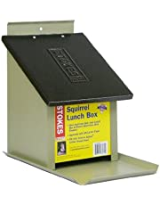 Stokes Select Squirrel Lunch Box with Metal Roof, 4.1 lb Capacity