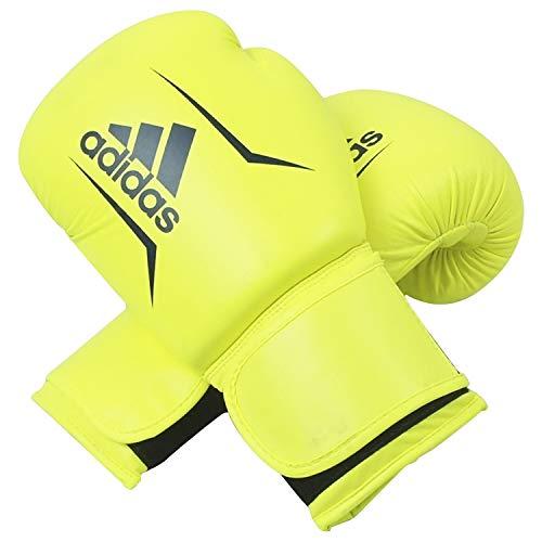adidas FLX 3.0 Speed 50 Bag Gloves, Solar Yellow/Blue, 12 oz