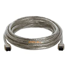 9 PIN/ 9PIN BETA FireWire 800 - FireWire 800 Cable -15FT, CLEAR
