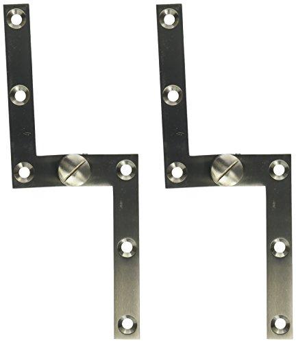 Solid Brass Pivot Base - Deltana PH60U15 Solid Brass 4 3/8-Inch x 5/8-Inch x 3/8-Inch Pivot Hinge