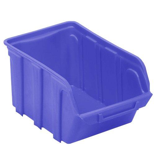 Viso TEKNI4B Polypropylene Stackable Bin - Blue VISO-TEKNI4B