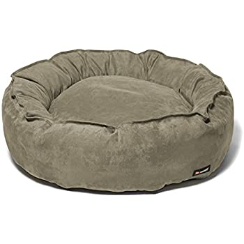 Amazoncom  Big Shrimpy Nest Faux Suede Dog Bed Large Stone
