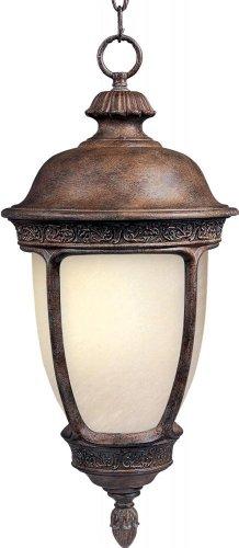 Maxim Lighting 85468SFSE One Light Sienna Snow Flake Glass Hanging Lantern, Copper