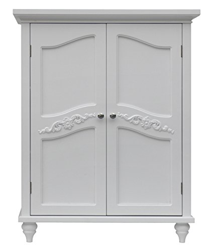 Elegant Home Fashion Vera 2-Door Floor Cabinet, White
