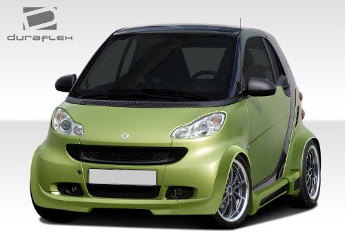 Duraflex Replacement for 2008-2016 Smart ForTwo GT300 Wide Body Kit - 11 Piece