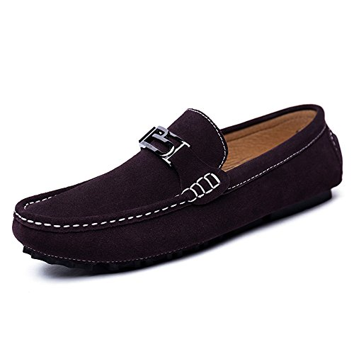 Casual antiscivolo Marrone di EU guida Color Flat On Scarpe di pelle Flat Men's Ofgcfbvxd Dimensione Mocassini Slip Marrone in 43 Mocassini morbida fondo pna4g7qw