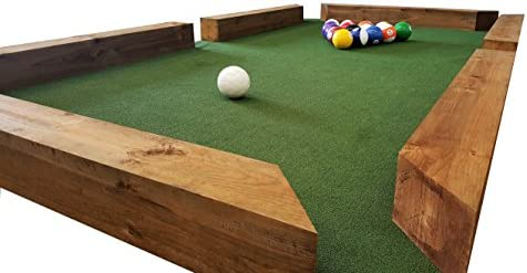 MASGAMES | Billar de fútbol Gigante | Laterales de Madera | Pista de Juego de césped artifcial | Bolas de 20 cm |: Amazon.es: Deportes y aire libre
