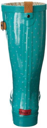 Chooka Women's Classy Dot Rain Boot,Brown Turquoise,9 M US