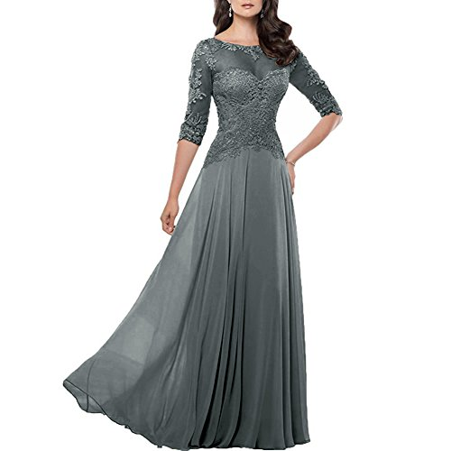 H.S.D Women's Lace Mother Of Bride Dress Half Sleeve Long Prom Formal Gown ()