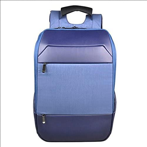 ダークブルーメンズコンピューターバッグ旅行ビジネス防水バックパックカジュアルナイロンショックプルーフ多機能屋外ジムトラベルハイキング