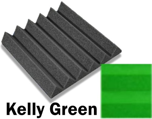 48 Pack of (12 x 12 x 2)Inch Acoustical Wedge Foam Panel for Soundproofing Studio & Home Theater (Kelly Green) by F-Factory(Acoustic Foam) (Image #6)