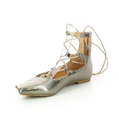 Go Tendance - Sandalias de vestir para mujer Doré