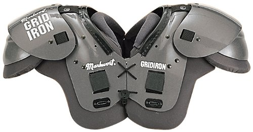 Adult XL Gridiron Football Shoulder Pads (Should Width 19-20, Chest Size 44-46, Body Weight 200-230lbs) ()