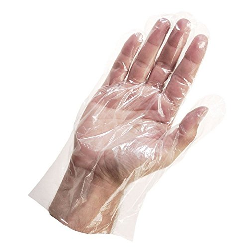 ANONE 500 PCS Clear Disposable Poly PE Gloves Food Service Safety Glove (600) by ANONE