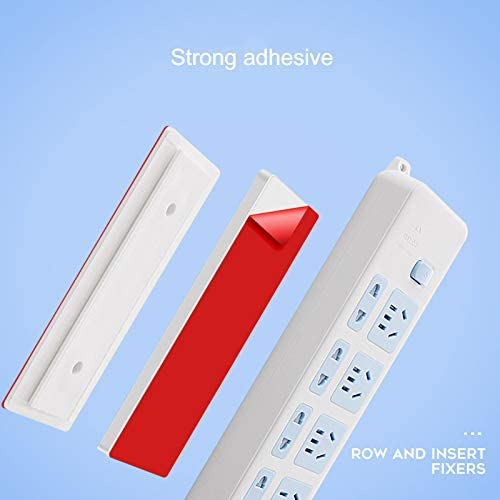 enjtsgyt Magic Plug Holder Seamless Punch-Free Plug Sticker Wall Fixer Power Strip Holder pour Prises