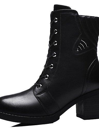 Cn40 Nieve negro Uk6 Casual De us8 Y Eu39 us6 Cn36 Sintético Anfibias Xzz Trabajo Eu36 Zapatos Botas Mujer Robusto Uk6 Oficina Gray Black Tacón Vestido Uk4 5 5 Ww1B7