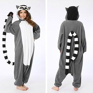 Lemur Catta Adult Unisex Animal Kigurumi Cosplay Costume Pajamas Onesies
