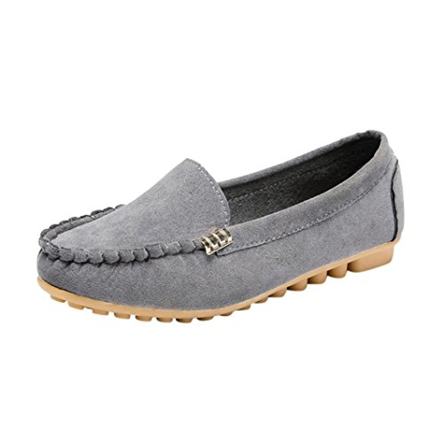 Clearance!Women Summer Sandals,Todaies Women's Flats Ladies Comfy Ballet Shoes Soft Slip-On Casual Boat Shoes 2018 (US:7.5, Gray)