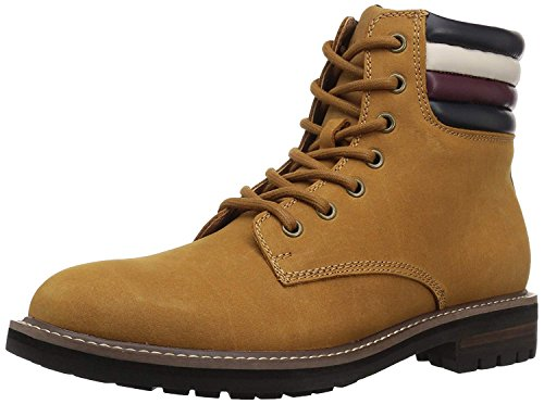 Tommy Hilfiger Men's Halle Combat Boot, Cognac, 9.5 Medium US by Tommy Hilfiger