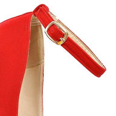 Ch & Tou Femmes-talons-soirée De Mariage Formelle Et Fête-bracelet-stiletto-pu (polyuréthane) -noir Jaune Rose Rouge Blanc Tissu Amande, Rose, Us10.5 / Eu42 / Uk8.5 / Cn43