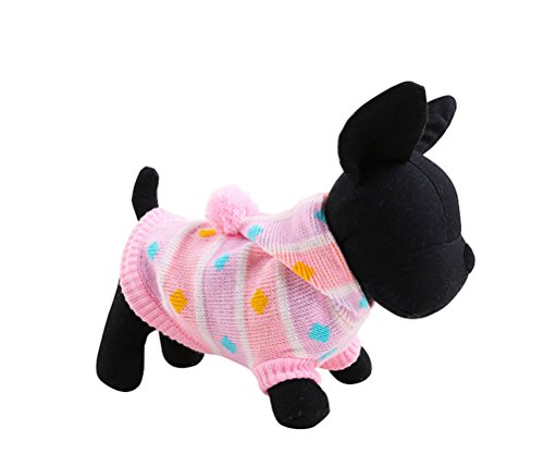 Philippine Festivals Costumes (Uniquorn Autumn And Winter Dog Clothes Pet Christmas Sweater Teddy VIP Bichon Rainbow Color Clothing Pet Clothing)