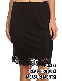 Women's Plus Size Juniors Mini Pencil Skirt w/ Lace Trim Detail Dressy