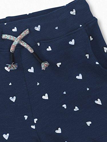Colored Organics Girls Organic Nika Sport Shorts - Navy/White Heart Print - 2T by Colored Organics (Image #3)