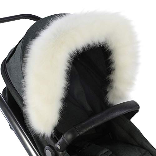 For-Your-Little-One aFHACWK-W339 - Pram Fur Hood Trim Compatible On Koelstra, Color W
