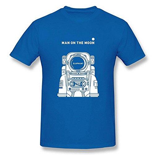 Swarz Men's Spaceman Astronaut Man On The Moon RoyalBlue T-Shirt
