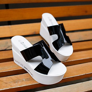 Comfort Leather 5 Wedge Sandals US7 Blushing Casual Silver 5 boots Black Comfort Walking Pink Sequin Slouch CN38 Patent UK5 Heel EU38 Slouch Women's boots White q5X7nRw5