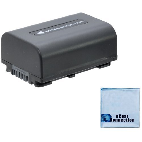 NP-FV50 1900mAh Li-Ion Battery for Sony Camera/Camcorders + eCostConnection Microfiber Cloth
