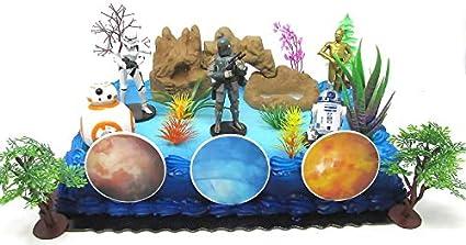 Amazon.com: Star Wars 22 pieza torta de cumpleaños Topper ...