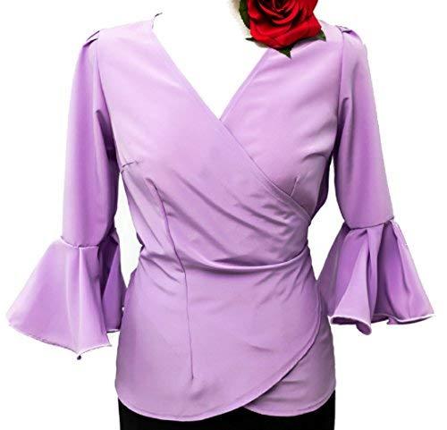 33d77c83d9f camisa cruzada de flamenco crespon: Amazon.es: Ropa y accesorios