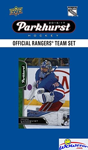 New York Rangers 2016/2017 Upper Deck Parkhurst NHL Hockey EXCLUSIVE Limited Edition Factory Sealed 10 Card Team Set including Henrik Lundqvist, Mats Zuccarello & all the Top Stars! Wowzzer!