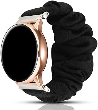 PENKEY 20mm Scrunchie Watch Band Compatible with Samsung Galaxy Watch 42mm,Soft Classic Pattern Replacement Wristbands for Samsung Galaxy Watch Active/Active 2 41TwCdGxByL