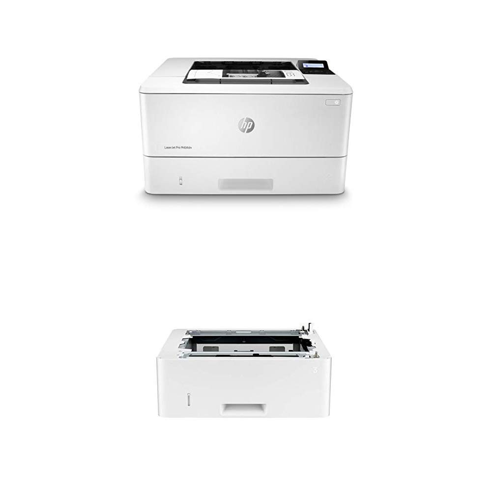 HP Laserjet Pro M404dn (W1A53A) with Additional 550-Sheet Feeder Tray (D9P29A) by HP