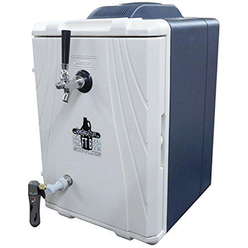 HomeBrewStuff Tailgaterator Single Tap Kegerator / Portable Keg Cooler Draft Beer Kegerator WITH 2.5 Gallon Keg