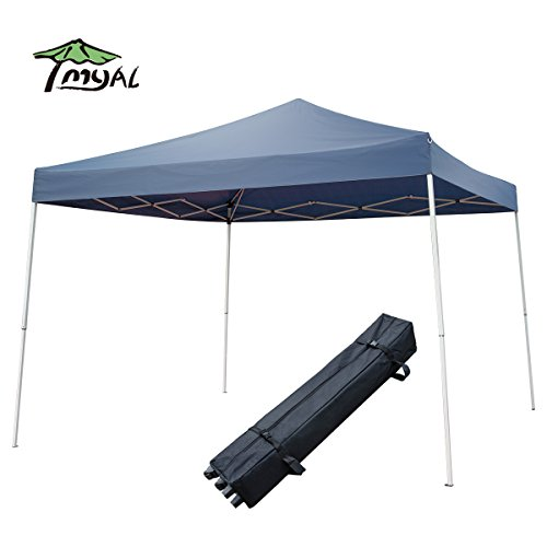 MYAL 10x10ft Pop-Up Canopy Patio Outdoor with Roller Bag Gazebo Blue