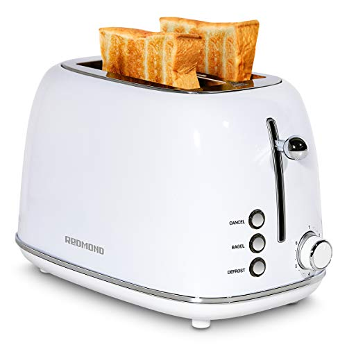 REDMOND 2 Slice Toaster Retro Stainless Steel Toaster with Bagel, Cancel,...
