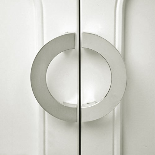 Modern Silver Semi Circular Cabinet Knob Wardrobe Closet Door Pull Handle  85%OFF