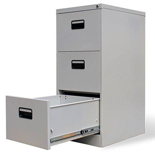 (Festnight 3 Drawers Metal Hanging File Cabinet Heavy Duty Lockable Storage Letter Filing Cabinet for Office Home Furniture 18
