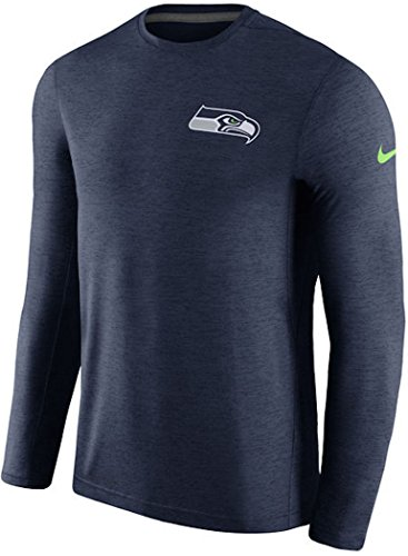 Seattle Seahawks Nike Coaches Long Sleeve Performance T-Shirt - College Navy (X-Large)