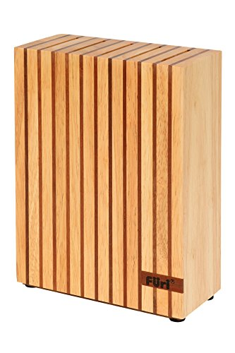 Furi 41348 Pro Wooden Knife Block Set, 5 Slots for Small and Large Knives, rubberwood and Teak Knife Stand (Colour…