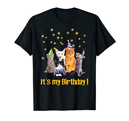 Its my Birthday cute cats Meow T-shirt