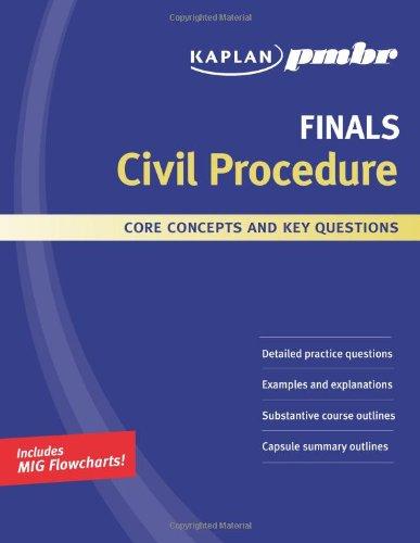 Kaplan PMBR FINALS: Civil Procedure: Core Concepts and Key Questions