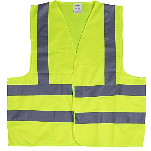 CARTMAN High Visibility Safety Vest Neon Yellow, ANSI/ISEA Standard, Size L, 1PK by CARTMAN