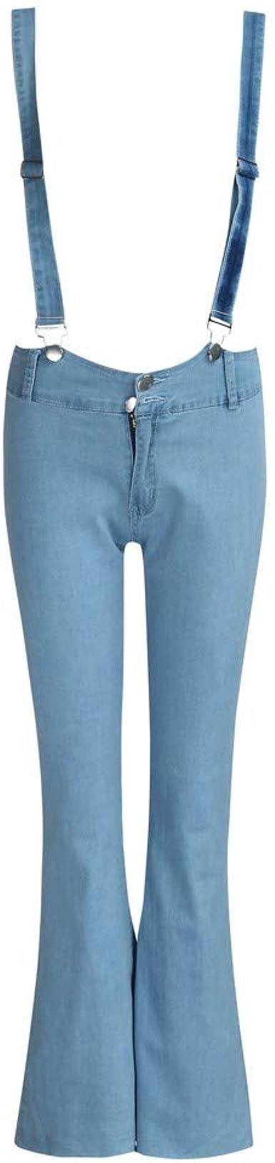 Pantalones vaqueros para mujer, cintura alta, con cremallera ...