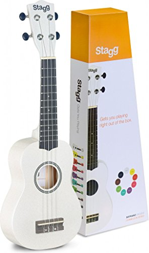 Stagg US Soprano Ukulele with Gig Bag Included-White